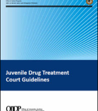OJJDP Releases Guidelines for Juvenile Drug Treatment Courts